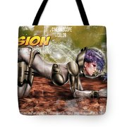 Planetary Invasion Tote Bag by Pete Tapang