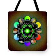 Planetary Metatron Zodiac Tote Bag