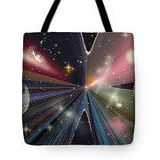 Planets Dancing Tote Bag