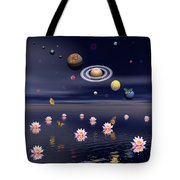 Planets Of The Solar System Surrounded Tote Bag