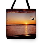 Plans Second Pass Over Beach Tote Bag
