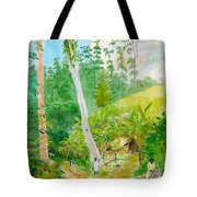 Plantain Walk Watchman And Hut Tote Bag