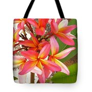 Plantation Plumeria Tote Bag