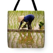 Planting Rice Tote Bag