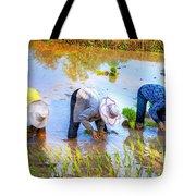 Planting Rice Tote Bag