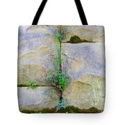 Plants In The Brick Wall Tote Bag