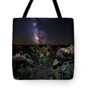 Plants Vs Milky Way Tote Bag