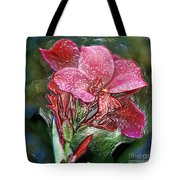 Plastic Wrapped Pink Flower By Diana Sainz Tote Bag