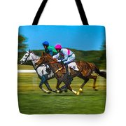 Plastic Wrapped Steeplechase Tote Bag