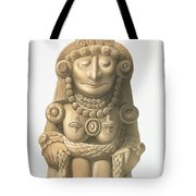 Plate From Ancient Monuments Of Mexico Tote Bag