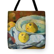 Plate Of Apples Tote Bag by Paul Serusier
