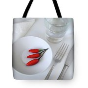 Plate Of Chilies  Tote Bag