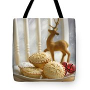 Plate Of Mince Pies Tote Bag
