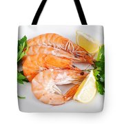 Plate With Shrimps  Tote Bag