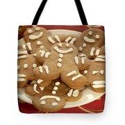 Plateful Of Gingerbread Cookies Tote Bag by Juli Scalzi