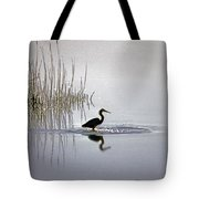 Platinum Heron Tote Bag by Skip Willits
