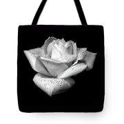 Platinum Rose Flower Tote Bag