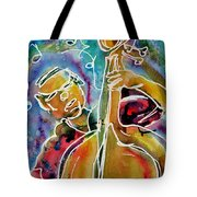 Play The Blues Bass Man Tote Bag