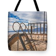 Play Time Is Over Slide Playground Tote Bag