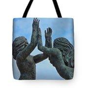 Playa Del Carmen Statue Tote Bag