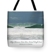 Playa Hermosa Wave Triptych Central Pacific Coast Costa Rica Tote Bag