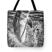 Playful Black And White Tote Bag