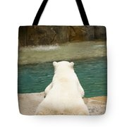 Playful Polar Bear Tote Bag by Adam Romanowicz