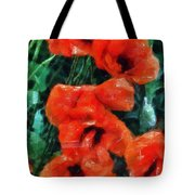 Playful Poppies 5 Tote Bag