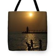 Playful Sunset Tote Bag