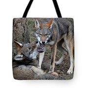 Playful Wolves Tote Bag