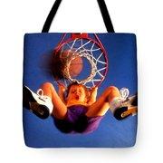 Playing Basketball Tote Bag