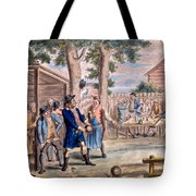 Playing Bowls Tote Bag