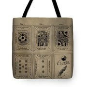 Playing Cards Patent Tote Bag