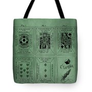 Playing Cards Patent Green Tote Bag