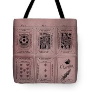 Playing Cards Patent Red Tote Bag