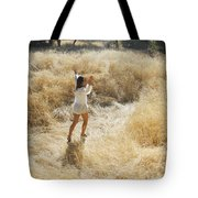 Playing In The Grass Tote Bag