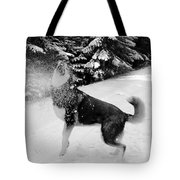 Playing In The Snow Tote Bag by Carol Groenen