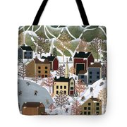 Playing In The Snow Tote Bag