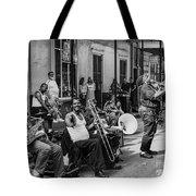 Playing Jazz On Royal Street Nola Tote Bag