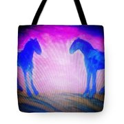 The Horses Were Playing The Blues Whole Night  Tote Bag