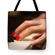 Playing The Piano Tote Bag