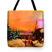 Playing Until The Sun Sets Tote Bag