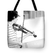 Playing Violin Tote Bag