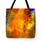 Playing With Bubbles Textured Abstract Artwork By Omaste Witkows Tote Bag by Omaste Witkowski