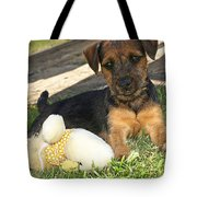 Playmates - Puppy With Toy Tote Bag