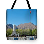 Plaza Across From Potala Palace Which Replaced A Natural Lake-tibet Tote Bag