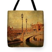 Plaza De Espana 9. Seville Tote Bag by Jenny Rainbow