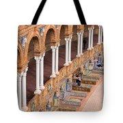 Plaza De Espana Colonnade In Seville Tote Bag