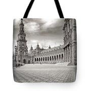 Plaza De Espana Seville Bw Tote Bag