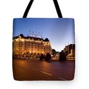 Plaza De Neptuno And Palace Hotel Tote Bag